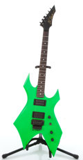 Musical Instruments:Electric Guitars, 1980's BC Rich Warlock Green Electric Guitar #BC14786....