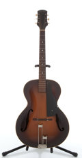 Musical Instruments:Acoustic Guitars, Vintage Epiphone Olympic Sunburst Archtop Acoustic Guitar#13875....