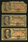 Fractional Currency:Fifth Issue, Fr. 1380 50¢ Fifth Issue Good to Very Good. Three Examples.. ...(Total: 3 notes)