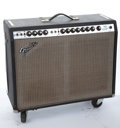 Musical Instruments:Amplifiers, PA, & Effects, Mid 1970's Fender Twin Reverb Black Amplifier #A620597...