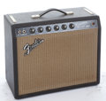Musical Instruments:Amplifiers, PA, & Effects, 1967 Fender Princeton Reverb Black Amplifier #A18674...