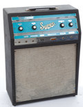 Musical Instruments:Amplifiers, PA, & Effects, Mid 1960's Supro Corsica Black Amplifier #S6622...