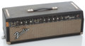 Musical Instruments:Amplifiers, PA, & Effects, Late 1960's Fender Band-Master Black Amplifier #A20734...