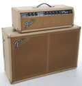 Musical Instruments:Amplifiers, PA, & Effects, 1960's Fender Bandmaster Blonde Head & Amplifier #A00977...