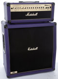Musical Instruments:Amplifiers, PA, & Effects, Modern Marshall MG100HDFX Purple Head & Amplifier #N/A...