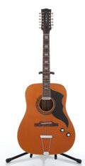 Musical Instruments:Acoustic Guitars, Vintage EKO Natural 12 String Electric Acoustic Guitar #386692...