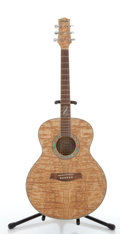 Musical Instruments:Acoustic Guitars, Ibanez EW20ASNT1201 Maple Flame Acoustic Guitar #SQ05122340....