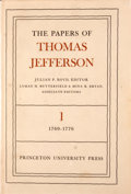 Books:Non-fiction, Julian P. Boyd [editor]. The Papers of Thomas Jefferson.Princeton: Princeton University Press, 1950. Various pr... (Total:19 Items)