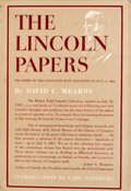 Books:First Editions, David C. Mearns. The Lincoln Papers. Garden City: Doubleday,1948. First edition. Two octavo volumes. Publisher's bi...