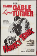 """Movie Posters:Western, Honky Tonk (MGM, R-1955). One Sheet (27"""" X 41""""). Western.. ..."""