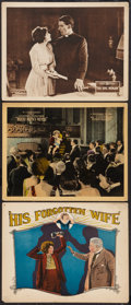"""Movie Posters:Drama, His Forgotten Wife Lot (FBO, 1924). Lobby Cards (3) (11"""" X 14""""). Drama.. ... (Total: 3 Items)"""