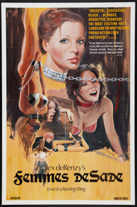 "Femmes de Sade (Variety Films, 1976). One Sheet (27"" X 40.5""). Adult"