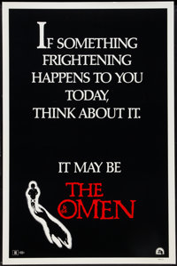 "The Omen (20th Century Fox, 1976). One Sheet (27"" X 41"") Style D. Horror"