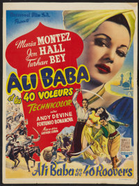 """Ali Baba and the Forty Thieves (Universal, 1944). Belgian (14"""" X 18.75"""") and Uncut Pressbook (14 Pages, 14&quo..."""