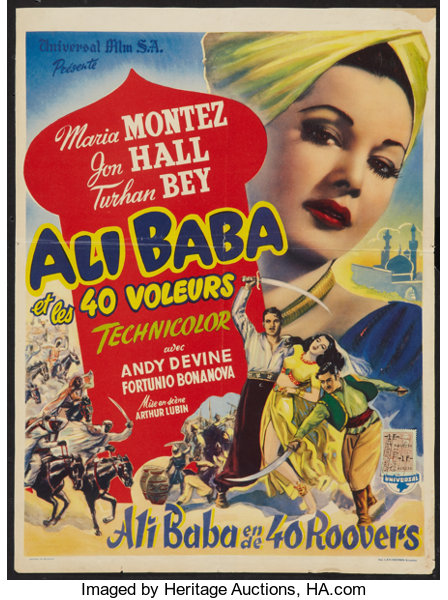 Ali Baba And The Forty Thieves Universal 1944 Belgian 14 X Lot 54013 Heritage Auctions