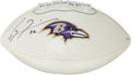Football Collectibles:Balls, Ray Lewis Signed Football....