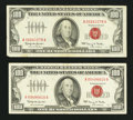 Small Size:Legal Tender Notes, Fr. 1550 $100 1966 Legal Tender Notes. Two Examples. Very Fine.. ... (Total: 2 notes)