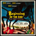"Movie Posters:Science Fiction, Beginning of the End (Republic, 1957). Six Sheet (81"" X 81"").Science Fiction.. ..."