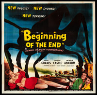 "Beginning of the End (Republic, 1957). Six Sheet (81"" X 81""). Science Fiction"