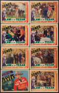"""Movie Posters:Western, Law of the Texan (Columbia, 1938). Lobby Card Set of 8 (11"""" X 14""""). Western.. ..."""