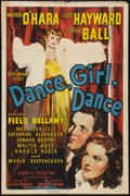 "Movie Posters:Musical, Dance, Girl, Dance (RKO, 1940). One Sheet (27"" X 41""). Musical.. ..."
