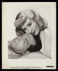 """Movie Posters:Film Noir, Barbara Stanwyck and Fred MacMurray in """"Double Indemnity"""" by Bud Fraker (Paramount, 1944). Photos (2) (8"""" X 10"""").. ... (Total: 2 Items)"""