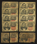 Fractional Currency:Fifth Issue, Fr. 1265 and Fr. 1266 10¢ Fifth Issue Ten Examples Good or Better..... (Total: 10 notes)