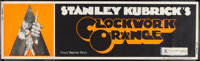 "A Clockwork Orange (Warner Brothers, 1972). Banner (24"" X 82"") X-Rated Style. Science Fiction"