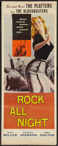 "Movie Posters:Rock and Roll, Rock All Night (American International, 1957). Insert (14"" X 36"").Rock and Roll.. ..."