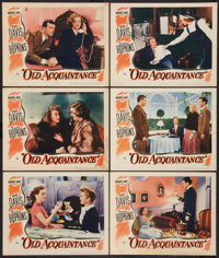 """Old Acquaintance (Warner Brothers, 1943). Lobby Cards (6) (11"""" X 14""""). Drama. ... (Total: 6 Items)"""