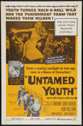 "Movie Posters:Exploitation, Untamed Youth (Warner Brothers, 1957). One Sheet (27"" X 41""). Exploitation.. ..."