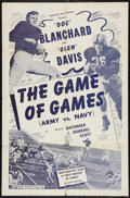 "Movie Posters:Sports, The Game of Games (Army vs. Navy) (Astor Pictures, 1947). One Sheet (27"" X 41""). Sports.. ..."