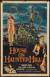 "House on Haunted Hill (Allied Artists, 1959). One Sheet (27"" X 41""). Horror"
