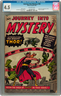 Journey Into Mystery #83 (Marvel, 1962) CGC VG+ 4.5 Off-white pages