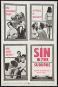 "Movie Posters:Sexploitation, Sin in the Suburbs (Jovin Films, 1964). One Sheet (27"" X 41"").Sexploitation.. ..."