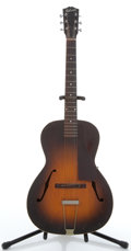 Musical Instruments:Acoustic Guitars, Vintage Gibson Sunburst Archtop Acoustic #745....