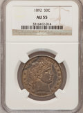 Barber Half Dollars: , 1892 50C AU55 NGC. NGC Census: (36/723). PCGS Population (96/861).Mintage: 934,000. Numismedia Wsl. Price for problem free...