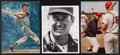 Baseball Collectibles:Photos, Ted Williams Signed Photographs Lot of 3....