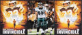 Football Collectibles:Photos, Philadelphia Eagles Stars Signed Oversized Photographs Lot of 3....