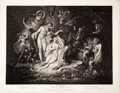 Antiques:Posters & Prints, Engraved Print from Boydell's Shakespeare Entitled,Midsummer Nights Dream. Cheapside: J. & J. Boyde...