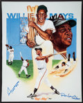 Baseball Collectibles:Others, Willie Mays Signed Oversized Print....