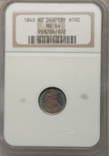 Seated Half Dimes: , 1840 H10C No Drapery MS64 NGC. NGC Census: (59/41). PCGS Population(40/35). Mintage: 1,000,000. Numismedia Wsl. Price for ...