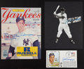 Baseball Collectibles:Others, Joe DiMaggio Signed Memorabilia Lot of 3....