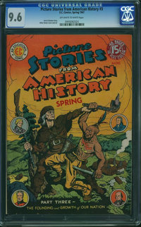 Picture Stories From American History #3 (EC, 1947) CGC NM+ 9.6 OFF-WHITE TO WHITE pages