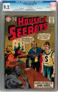 Silver Age (1956-1969):Horror, House of Secrets #58 Savannah pedigree (DC, 1963) CGC NM- 9.2 Whitepages....