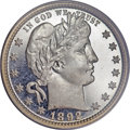 Proof Barber Quarters, 1892 25C PR67 Deep Cameo PCGS....
