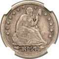 Seated Quarters, 1854-O 25C Huge O VF30 NGC. CAC. Briggs 1-A, FS-501....