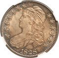 Bust Half Dollars, 1828 50C Square Base 2, Large 8 MS64 NGC. CAC. O-109, R.3....