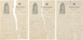 Baseball Collectibles:Others, 1931 Pie Traynor Handwritten, Signed Three Page Letter....
