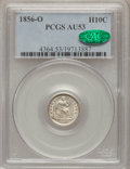 Seated Half Dimes: , 1856-O H10C AU53 PCGS. CAC. PCGS Population (7/44). NGC Census:(5/69). Mintage: 1,100,000. Numismedia Wsl. Price for probl...